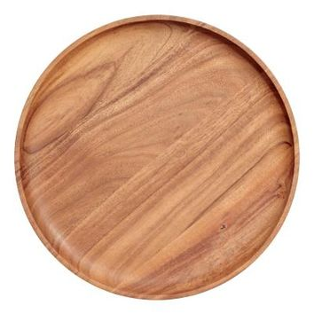 Round Wooden Tray - Wood - Home All | H&M US