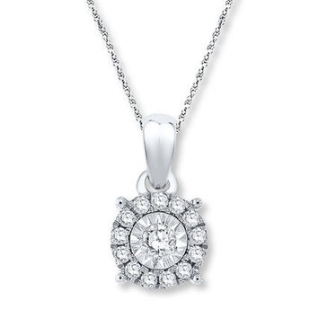 Necklace 1/10 ct tw Diamonds Sterling Silver