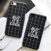 But It's Ok Checks Case for iPhone 7 7Plus & iPhone se 5s 6 6 Plus Cover +Gift Box-196