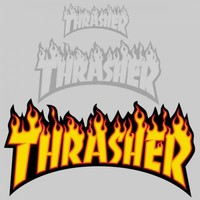 Thrasher Magazine Thrasher Flame Sticker (Large)