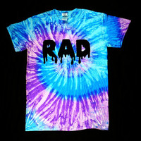 Purple blue tie dye RAD shirt