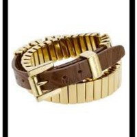 Michael Kors Double-Wrap Belt Bracelet, Golden - Michael Kors
