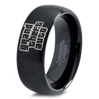 Grand Theft Auto Ring Gamer Ring Jewelry Fanatic Geek Girls Teen Womens Grand Theft Auto Ring Playstation Xbox Fathers Day Gift Tungsten Carbide 91