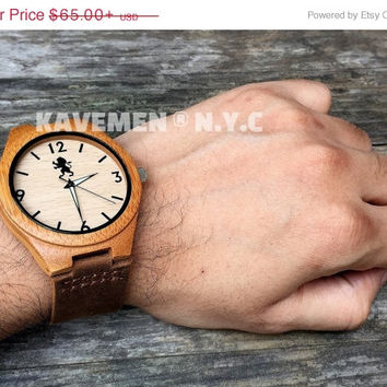 SALE Engrave Wood Watch. Real Wood Watch. Wood Watch. Kavemen. Boston Watch.