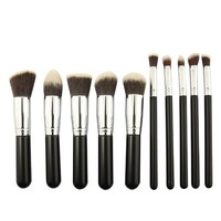 BESTOPE [Update Version] 10PCs Premium Makeup Brushes Set Cosmetics Synthetic Kabuki Make up Brush Foundation Blending Blush Eyeliner Face Powder Makeup Brush Kit