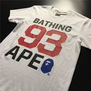 BAPE Unisex Fashion Casual Pattern Print T-shirt-3