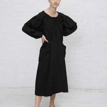 Totokaelo - Comme des Garcons GIRL Black Gather Neck L/s Dress - $816.00