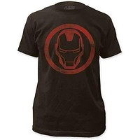 IRON MAN DISTRESSED ICON MENS LIGHTWEIGHT TEE
