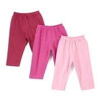Plum, Pink & Eggplant Pant Set - Infant