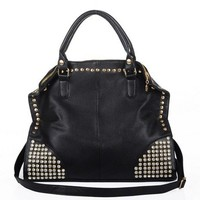Diamond Rivets Shoulder Messenger Handbag