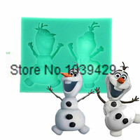 2015 Olaf Cooking Tools Christmas Wedding Kitchen Silicone Mold Fondant Cake Decoration Sugar Baking Mould Confectionery Tools