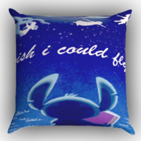 Hawaiian Culture In Stitch-Peter Pan Flying Quote Design Zippered Pillows  Covers 16x16, 18x18, 20x20 Inches