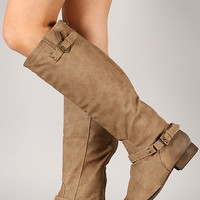 Dakkeni-3 Buckle Riding Knee High Boot