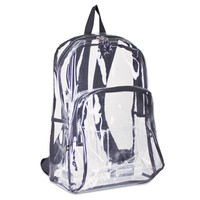 Eastsport Two Compartment PVC Plastic Clear Backpack