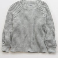 Aerie Pullover Sweater, Medium Heather