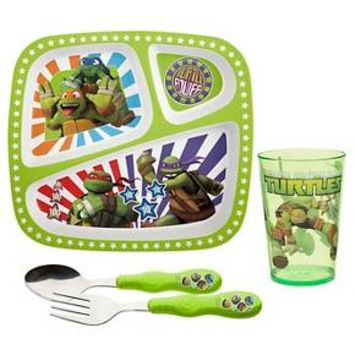 Zak! Teenage Mutant Ninja Turtles New Series Dinnerware Set of 4 : Target