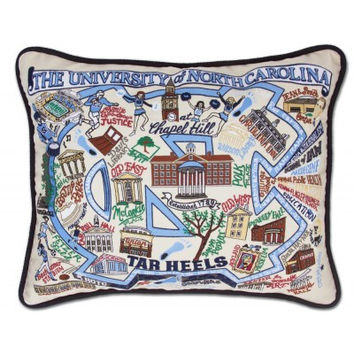 University of North Carolina Embroidered Pillow