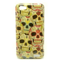 Cute Skull Heads Pattern Back Cover Hard Case for HTC One V T320e - USD $ 3.99