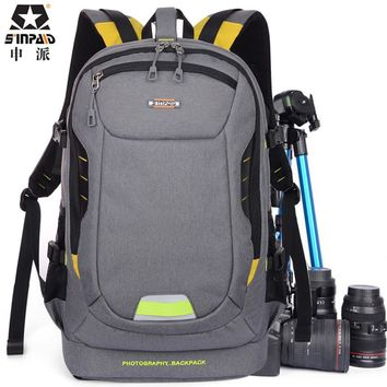 Photo Ultra Durable Wear-resistant Waterproof Anti-theft Prevent Vibration Travel Camera Bags Weight Reduction SLR Backpack Bag