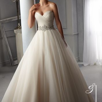 Blu by Mori Lee 5276 Tulle Wedding Dress