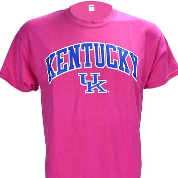 University of Kentucky ARCH on a Hot Pink Short Sleeve