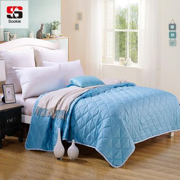 Sookie Summer Quilts Thin Comforter Blankets Throws Solid Color Air Conditioning Quil Patchwork Bedspread Full Queen Twin Size
