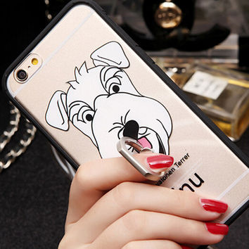 Cute Dog Hold creative case for iPhone 6 6s creative case iPhone 6 6s Plus Gift-80