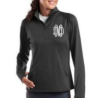 Monogrammed Charcoal Gray Dry Sport Pullover