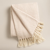 Ivory Chunky Chenille Throw - World Market