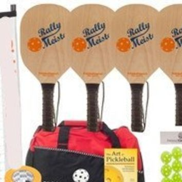 Rally Pickleball Multi-Court Sets-Wood Paddles/Net Systems/Balls/Bag/Line Tape/Rules