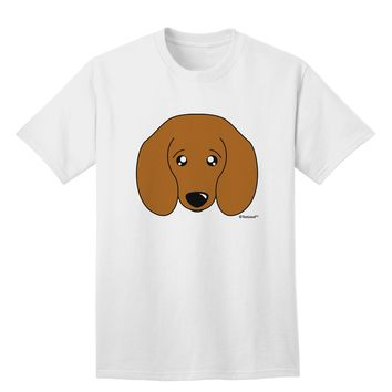 Cute Doxie Dachshund Dog Adult T-Shirt by TooLoud