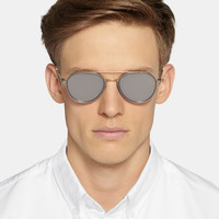 Thom Browne - Metal and Acetate Mirrored Aviator Sunglasses | MR PORTER