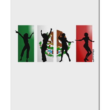 "Mexican Flag - Dancing Silhouettes Aluminum 8 x 12"" Sign by TooLoud"