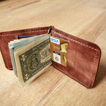 leather money clip brown money clip wallet leather wallet engraved money mens money clip custom money clip personalized clip moneyclip