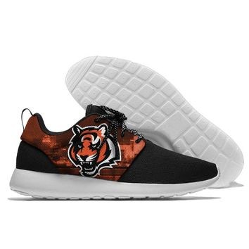 men and women  Sport Shoes Bengals Jogging Walking Athletic Shoes light weight from Cincinnati  running shoes