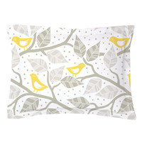 Modern Birds Pillow Shams