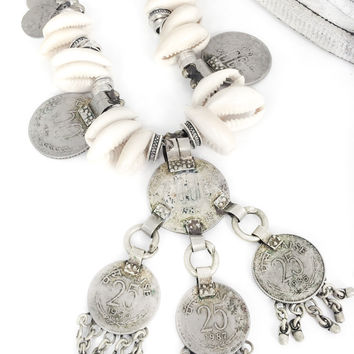 Wanderer Coin and Cowrie Necklace