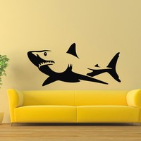 Wall Decal Vinyl Sticker Animal Predator Shark Sea Ocean Decor Sb475