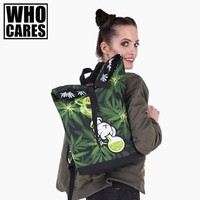 Kush weed 3D Printing courier backpack 2017 Who Cares New travel bag women bolsa de viaje mens luggage bags canvas duffel bags