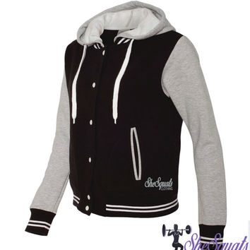 Womens Varsity Jacket. Sports Jacket. Womens Gym Sweater. Ladies Varsity Jacket. Ladies Varsity Hoodie. Varsity Hoody. letterman Jacket.