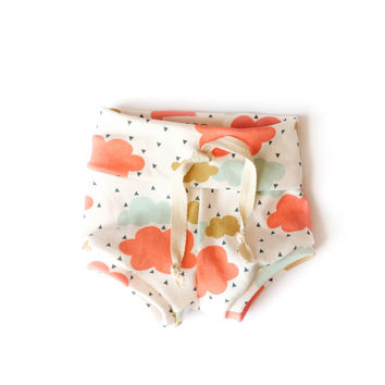 Organic Baby Shorts Colorful Rainy Day