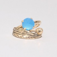 Cerulean leaf ring [Ios6662] - $183.00 : Pixie Market, Fashion-Super-Market