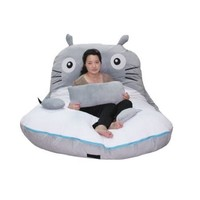 Cheap Price 300*175cm Huge Cute Cartoon Totoro Double Bed Sleeping Bag Pad Sofa