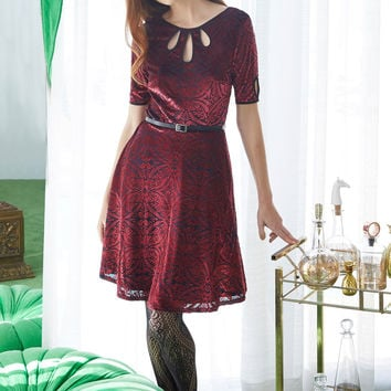 Present the Event Velvet Dress in Burgundy | Mod Retro Vintage Dresses | ModCloth.com