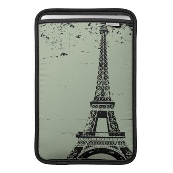 Green Eiffel Tower Custom MacBook Air Sleeve