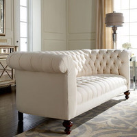 "Old Hickory Tannery - ""Ellsworth"" Tufted Sofa - Horchow"