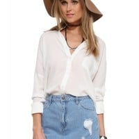 Lush Light Gauze Buttondown