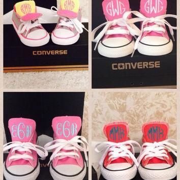 toddler and youth monogrammed converses