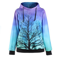 Unique Print Hoodie Sweatshirt for Women