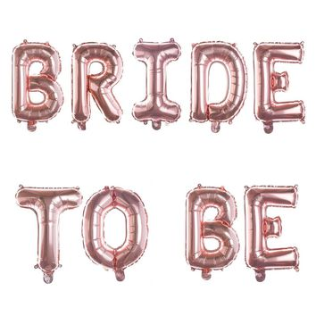 BRIDE TO BE Non-Floating Letter Balloons - 13 Inch Rose Gold
